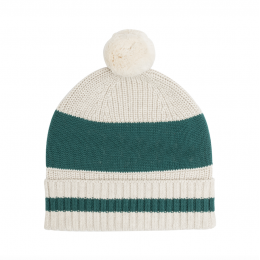 Coco Green Chunky Cotton Knitted Personalized Beanies