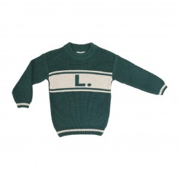Deep Green Chunky Personalized Knitted Jumper