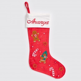 Gingerbread Cookies Luxe Stocking