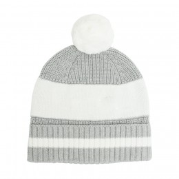 Grey Chunky Cotton Knitted Personalized Beanies