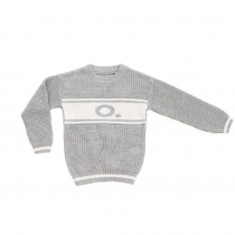 Grey Chunky Personalized Knitted Jumper