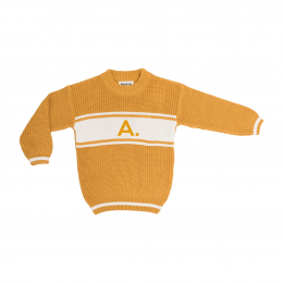 Mustard Chunky Personalized Knitted Jumper