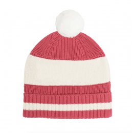 Raspberry Blue Chunky Cotton Knitted Personalized Beanies