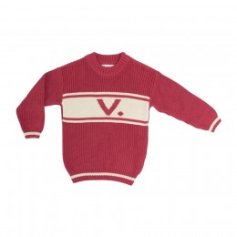 Raspberry Chunky Personalized Knitted Jumper