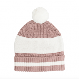 Rose Bloom Chunky Cotton Knitted Personalized Beanies