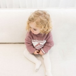 Rose Bloom Chunky Personalized Knitted Jumper