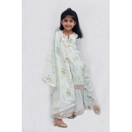 Sharara Set with - Patchwork Cotton Dupatta