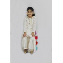 Polka Dot - Printed Sharara Set with Silk Dupatta