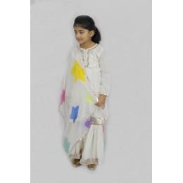 Star - Printed Sharara Set with Silk Dupatta