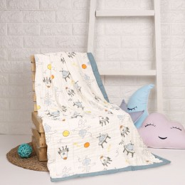 Baby Astronaut Quilted Muslin Blanket
