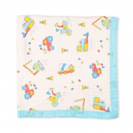 Baby The Builder Quilted Muslin Blanket