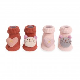Kitty's Love Pink And Red 3D Socks - 2 Pack