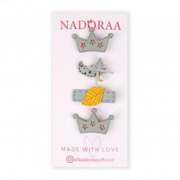 Nadoraa Forest Princess Blue Clip Set - Pack Of 4