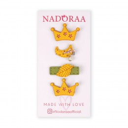 Nadoraa Forest Princess Yellow Clip Set - Pack Of 4