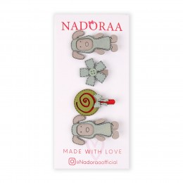 Nadoraa Mary's little Lamb Blue Clip Set - Pack Of 4