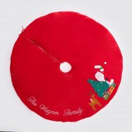 Peek-A-Boo Santa Tree Skirt