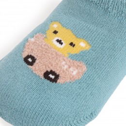 Racing Bear Grey And Teal Socks - 2 Pack