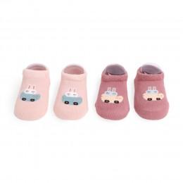 Racing Bear Pink Socks - 2 Pack