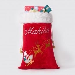 Santa In Sleigh Luxe Santa Sack