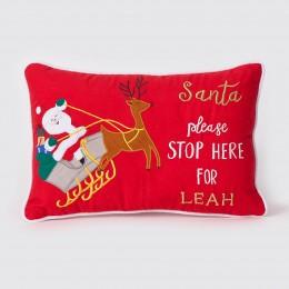 Santa In Sleigh Pillow