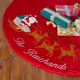 Santa In Sleigh Tree Skirt