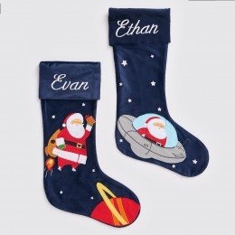 Santa In Ufo Luxe Stocking