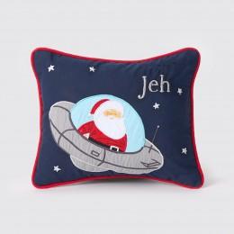 Santa In Ufo Pillow