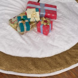Shimmer Gold and Ivory Tree Skirt
