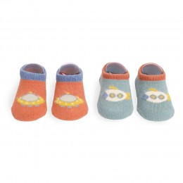 Space Cadet Red And Blue Socks - 2 Pack