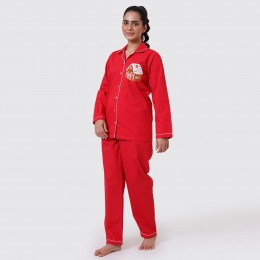 Women Gingerbread House Pajama Set