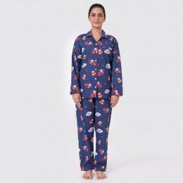 Women Space Santa Pajama Set