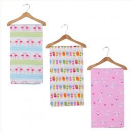 Flamingo-Popsicle-Bunny Girl's Swaddle Blanket