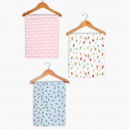 Hearts/ IceCream/ Rose Girl's Swaddle Blanket