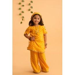 Idika Bandhani Set - Yellow