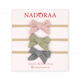 Nadoraa Pretty Pastels Headband Set - Pack of 3