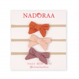 Nadoraa Summer Love Headband Set - Pack of 3