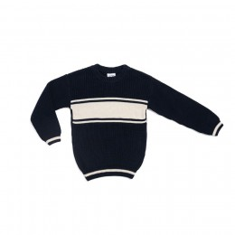 Navy Chunky Personalized Knitted Jumper