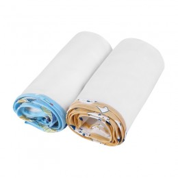 White Swaddle with Piping-MP