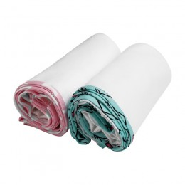 White Swaddle with Piping-PHC