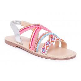 Root Multi-Color Embellished Sandals