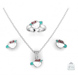 Sterling Silver Hello Kitty Baby Jewellery Set