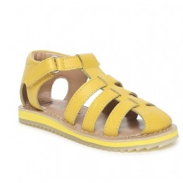 Yellow Solid Sandals