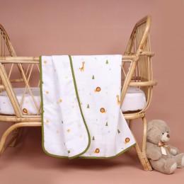 Forest Friends Organic Reversible Blanket