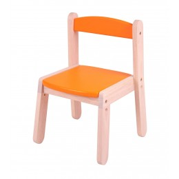 Wooden Stacking Chair - Orange