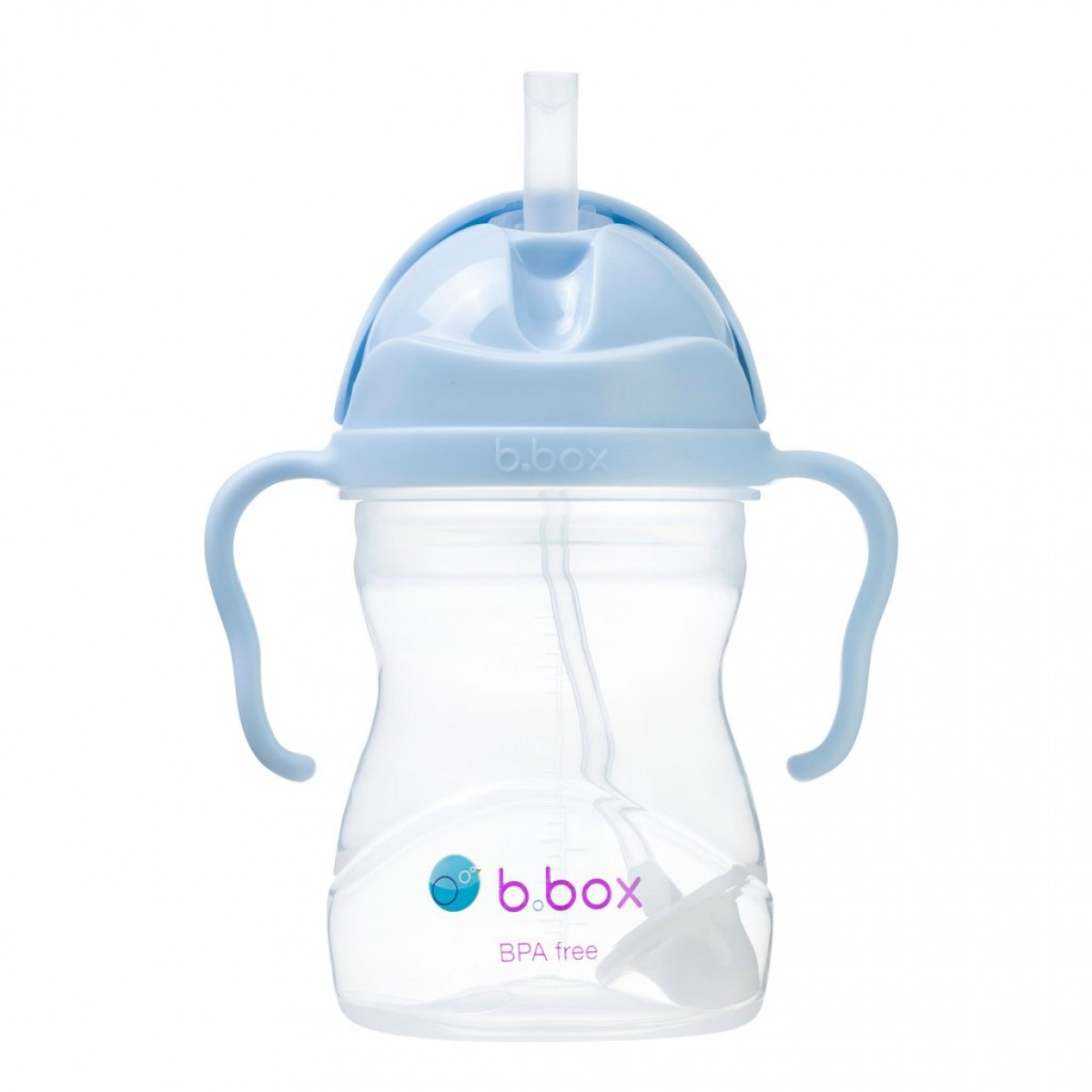 Weighted Straw Sippy Cup 240ml - Bubblegum Light Blue