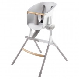 Up and Down High Chair Grey/White