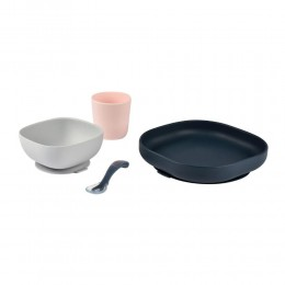 Silicone Suction Meal Set (4 pcs) - Night Blue