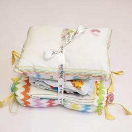 Cot Bedding Set with Rai Pillow - ABCD