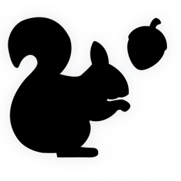 Meal Time Shaped Chalkboard Mat & Coaster - Squirrel