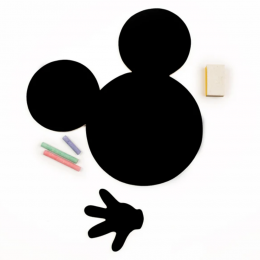 Meal Time Shaped Chalkboard Mat & Coaster - Mickey